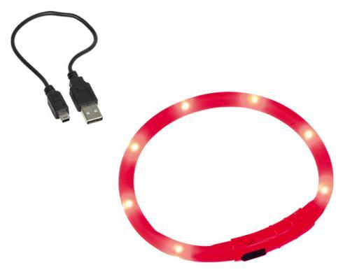 Nobby Led Visible svítící kroužek silikon èervená 40cm