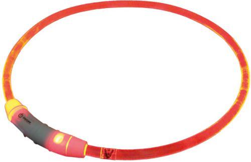 Nobby Starlight svítící obojek ABS plast èervená 65cm
