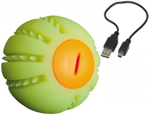 Nobby Starlight svítící míèek nabíjení USB žlutá 6,5 cm