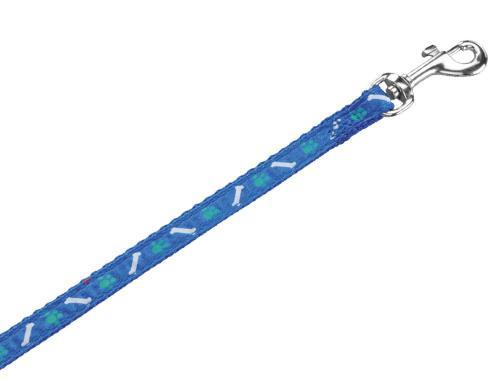 Nobby MINI textilní vodítko 120cm / 10mm modrá