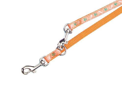 Nobby MINI textilní vodítko 200cm / 10mm oranžová