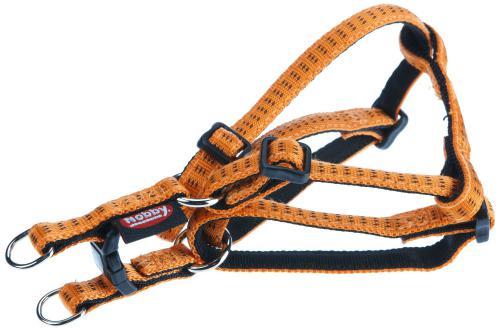 Nobby SOFT GRIP postroj nylon L-XL 60-86cm / 25mm oranžová