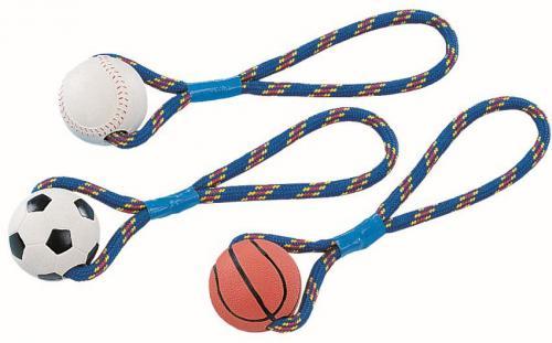 Nobby hraèka silný gumový míè s lanem 300g / 8cm 1ks