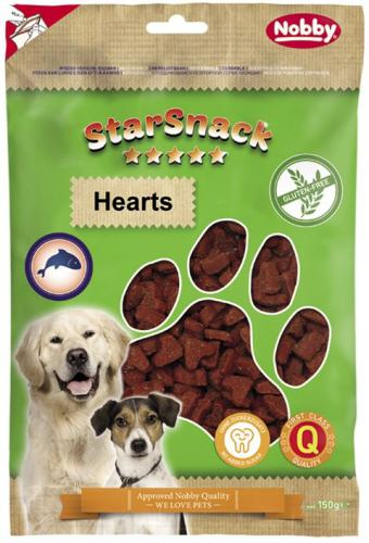 Nobby StarSnack Hearts GLUTEN FREE bezlepkové pamlsky srdíèka 150g
