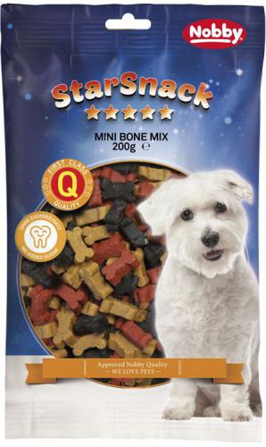 Nobby StarSnack Mini Bones Mix pamlsek kostièky 200g