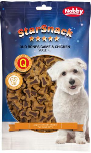 Nobby StarSnack Duo Bones pamlsek pro psy zvìøina+kuøe 200g
