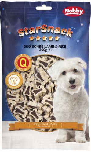 Nobby StarSnack Duo Bones pamlsky pro psa jehnì+rýže 200g