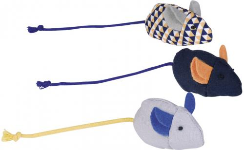 Nobby hraèka pro koèky set 3 myšek s catnipem 6 cm