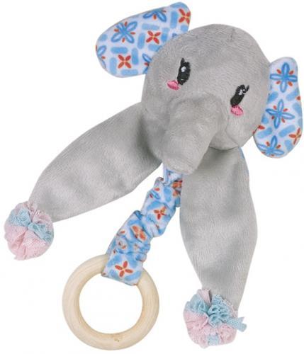 Nobby hraèka pro koèky sloník s døevìným kroužkem 16 cm