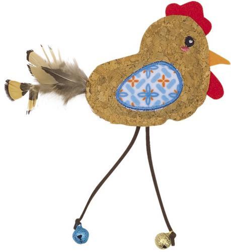 Nobby hraèka pro koèky korkový ptáèek s rolnièkami 17cm