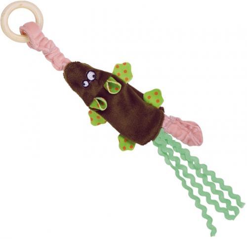 Nobby hraèka pro koèky plyšová myška s døevìným kroužkem 29,5 cm