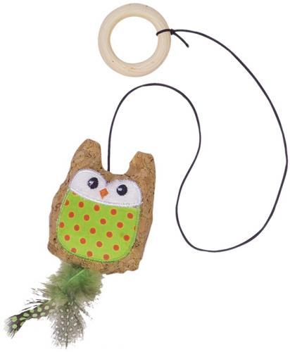 Nobby hraèka pro koèky sova s catnipem na gumové šòùrce 7,5/55 cm