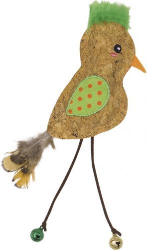 Nobby hraèka pro koèky korkový ptáèek s rolnièkami a catnipem 21 cm