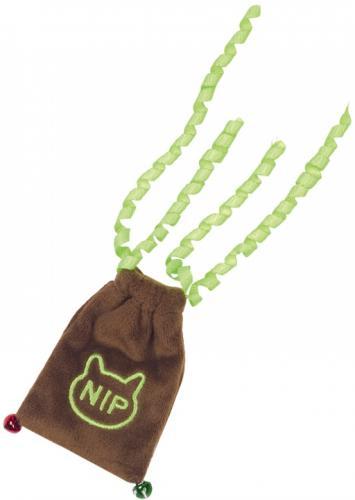 Nobby hraèka pro koèky plyšový váèek s doplnitelným catnipem a rolnièkami 9/20 cm