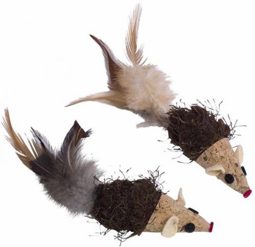 Nobby hraèka pro koèky korkové myšky 7/12 cm 2 ks