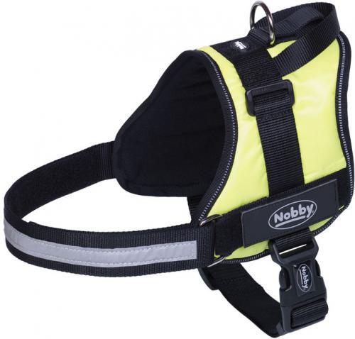 Nobby Seguro bezpeènostní postroj pro psa L žlutá neon 72-90cm