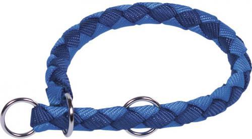 Nobby CORDA polostahovací kulatý obojek S modrá