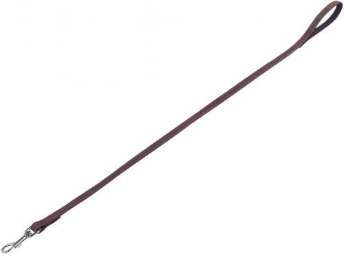 Nobby VELOURS vodítko ze semišové kùže S-M 1 m hnìdá