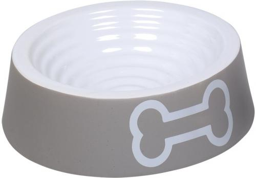 Nobby keramická miska BIG BONE šedo-bílá 24,0 x 7.0 cm / 0,70 l