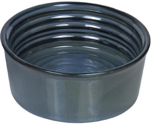 Nobby keramická miska GROOVE zeleno-modrá lakovaná 15,5 x 6,0 cm / 0,55 l