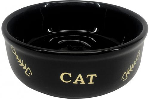 Nobby GOLDEN CAT keramická miska pro koèky èerná se zlatým vzorem 13,5x4,5cm/0,25l