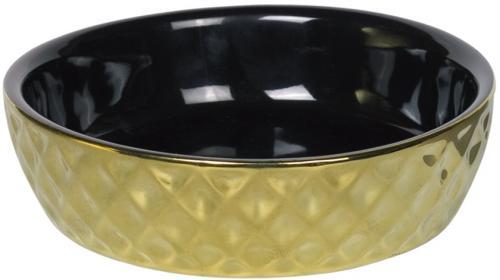 Nobby GOLD keramická miska pro koèky èerná se zlatým dekorem 14x4cm/0,25l