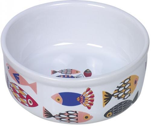 Nobby FISH keramická miska pro koèky bílá 13,5x4,5cm/0,25l