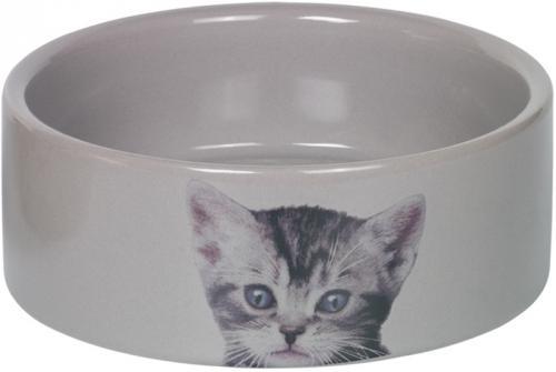 Nobby CUTE keramická miska pro koèky šedá 12x4,5cm/0,25l