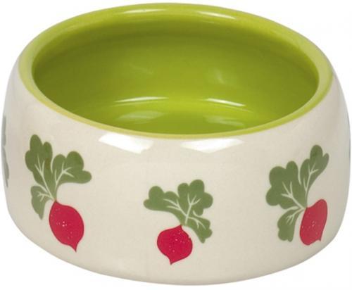 Nobby RADISH keramická miska pro hlodavce zeleno-bílá 12 x 5 cm
