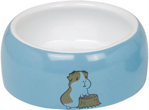 Nobby HAMSTER keramická miska pro hlodavce modro-bílá 14,5 x 5,5 cm