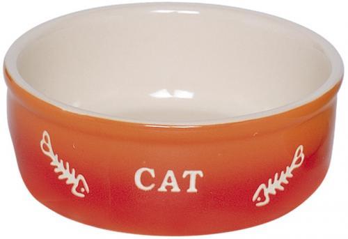 Nobby GRADIENT keramická miska pro koèky oranžová 13,5x4,5cm/0,25l