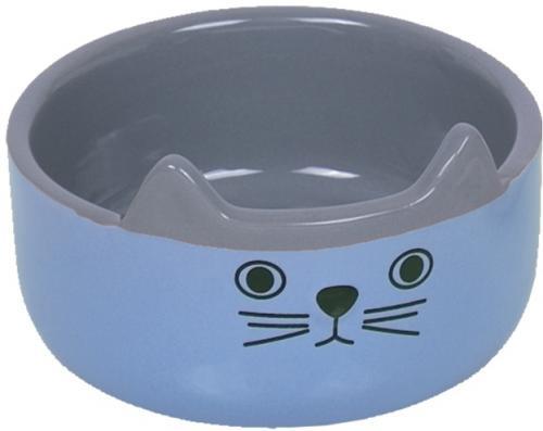 Nobby CAT FACE keramická miska pro koèky modro-šedá 13x4,5cm/0,16l