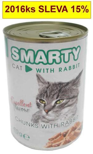 SMARTY chunks Cat Králík 410 g