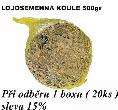 Lojová koule se semínky XXL 500 g (20 ks) SLEVA 15 %