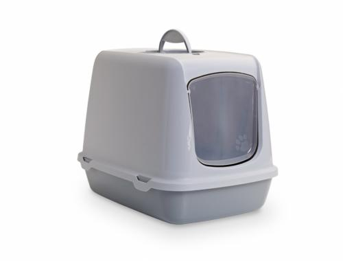 Savic Oscar šedá toaleta pro koèky 50x37x39cm