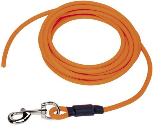 Nobby COVER kulaté stopovací vodítko bez smyèky pvc oranžová neon M-L 10m