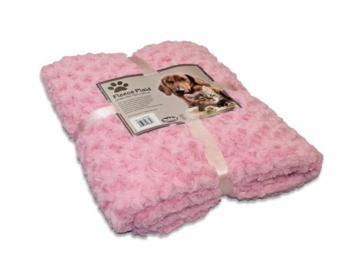 Nobby Super Soft fleecová mìkká deka 100x150cm øùžová