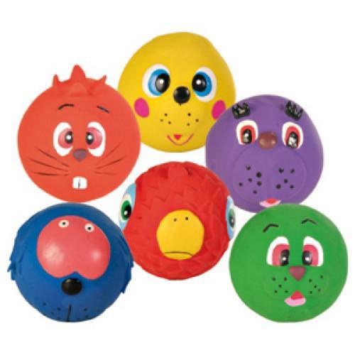 Nobby Face Ball hraèka míèek latex 7cm 1ks