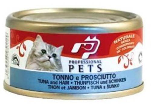 Professional Pets Naturale Cat konzerva tuòák a šunka 70g