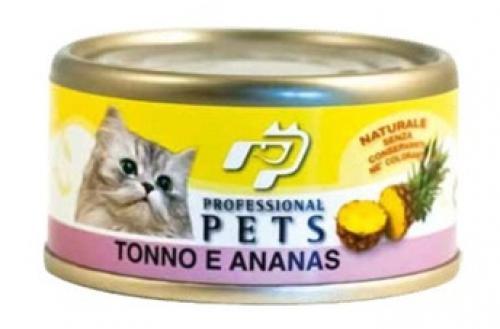 Professional Pets Naturale Cat konzerva tuòák, ananas 70g