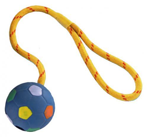Nobby aportovací míè s lanem 6,5 cm