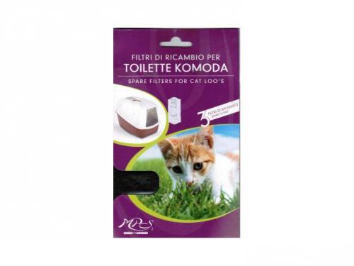 Nobby filtr do koèièí toalety Komoda 3ks