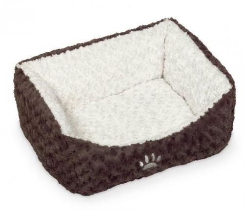Nobby Neiku obdelníkový pelíšek soft plyš bílá 45x40x18cm