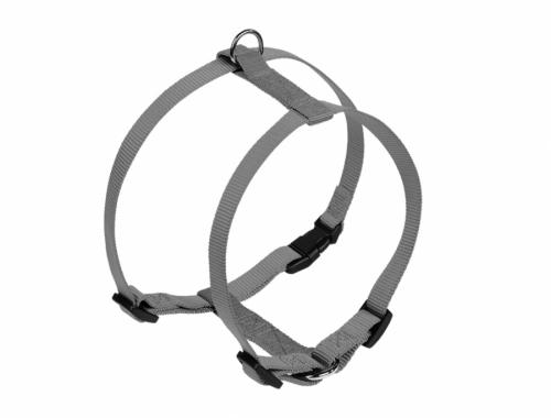 Nobby CLASSIC postroj nylon L-XL 70-90cm / 25mm šedá