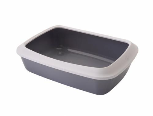 Savic Isis Small šedá toaleta pro koèky s okrajem 42x31x12cm