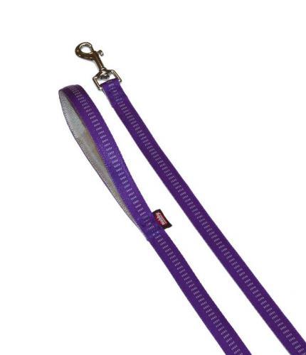 Nobby SOFT GRIP vodítko nylon 120cm / 25mm fialová