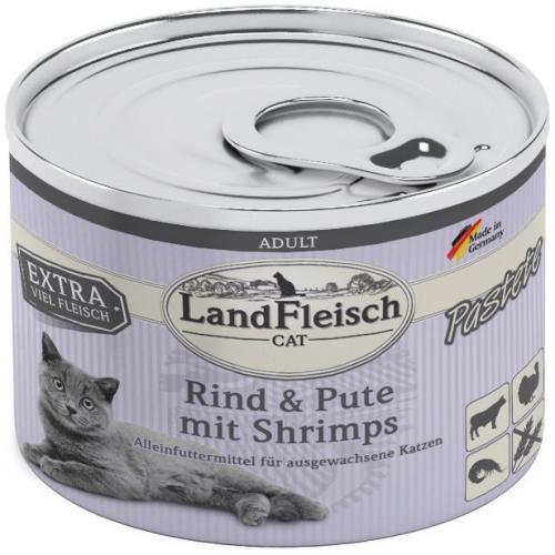 Landfleisch Cat Adult Pastete hovìzí, krùta, krevety 195g