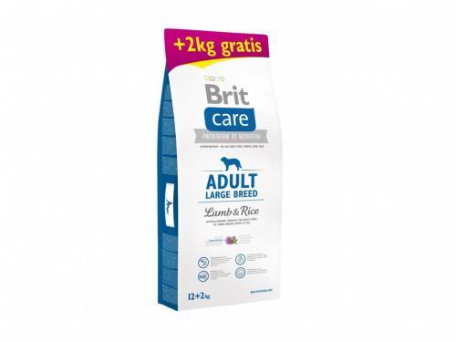 NEW Brit Care Adult Large Breed Lamb & Rice 3kg,12kg+2kg gratis