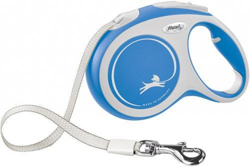 Flexi New Comfort L vodítko pásek 5m/60kg modrá