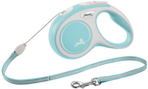 Flexi New Comfort S vodítko lanko 5m/12kg svìtle modrá